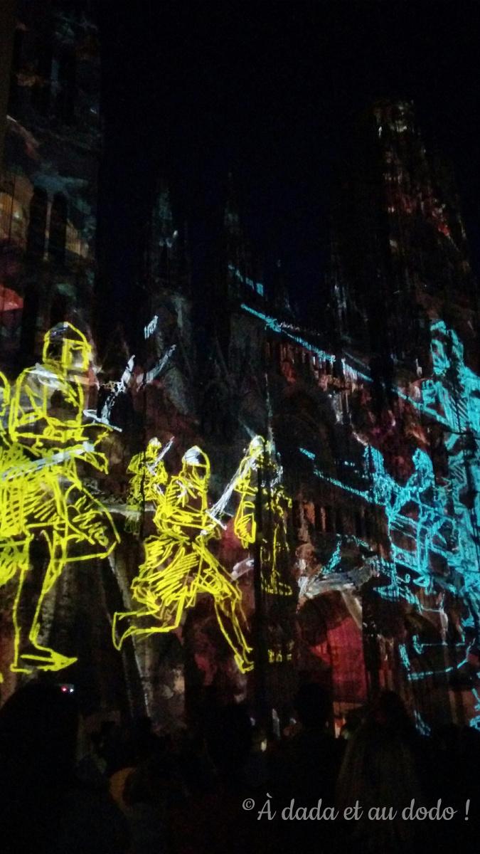 Rouen, cathédrale de Lumière, la bataille d'Hastings