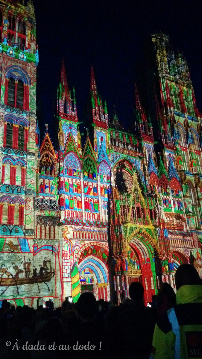 """Rouen, cathédrale de Lumière, l""""Fiers et conquérants"""""""