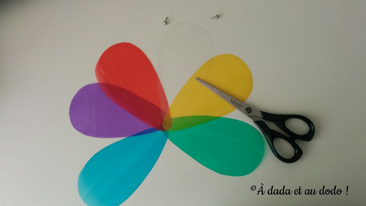 assembler la palette de couleurs transparente