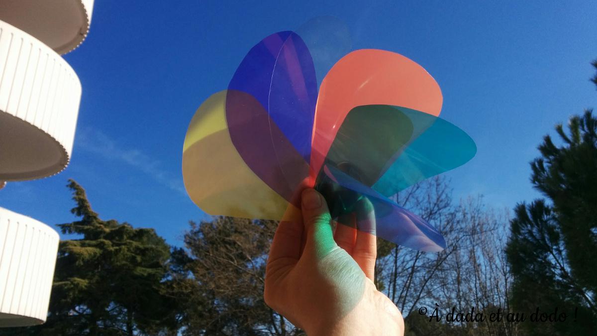 palette de couleurs transparente comme attrape soleil
