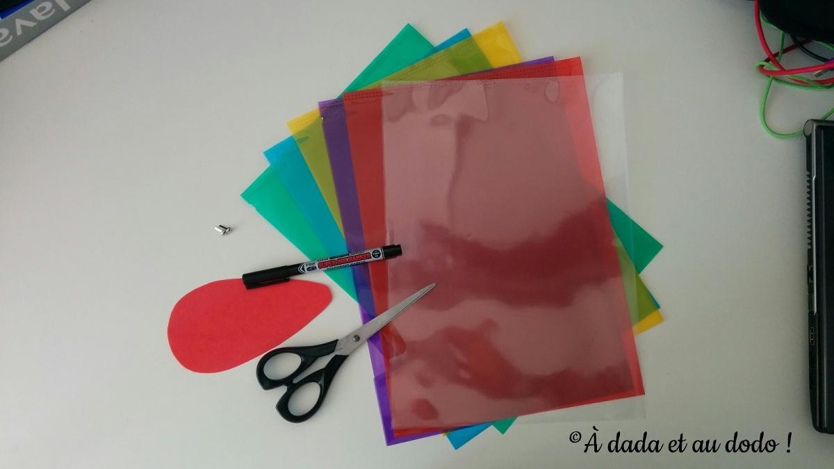 matériel nécessaire pour une palette de couleurs transparente