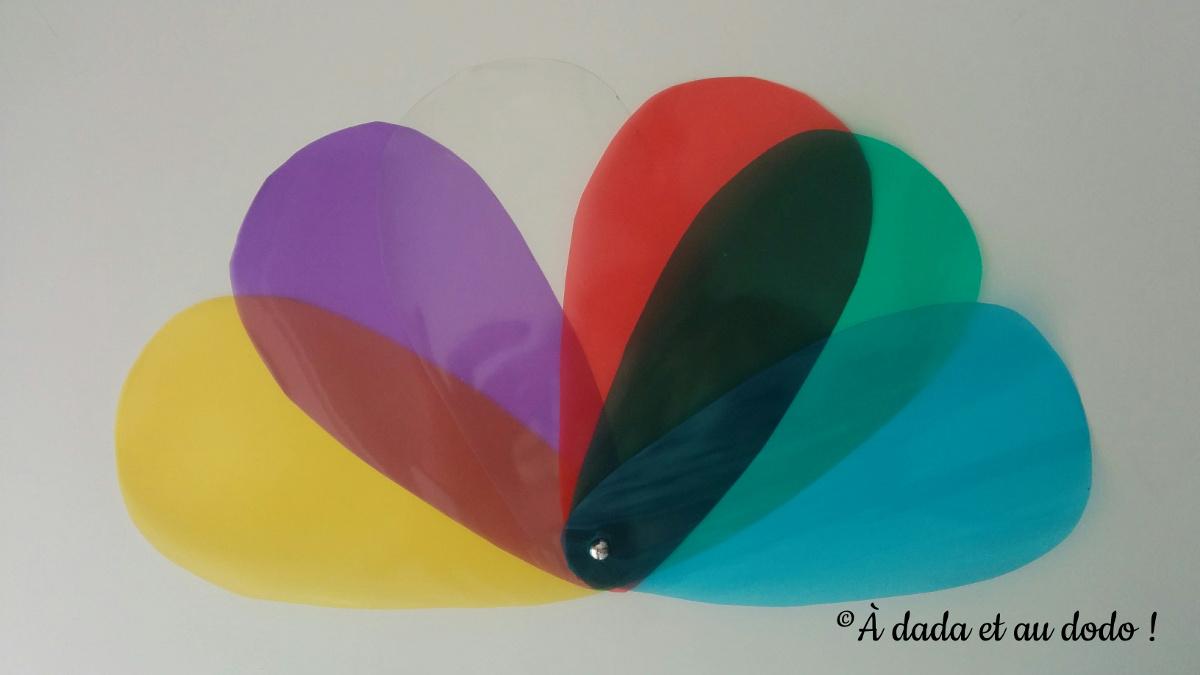 Palette de couleurs transparente