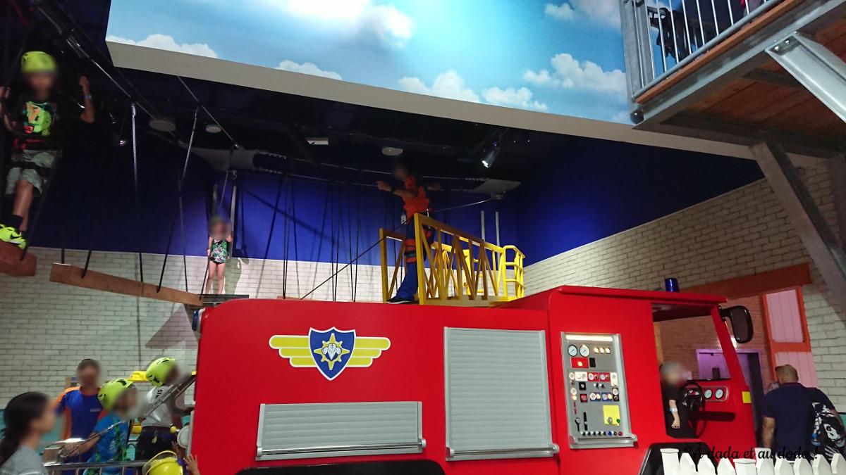Parcours d'accrobranche de Sam le Pompier à Mattel Play Town