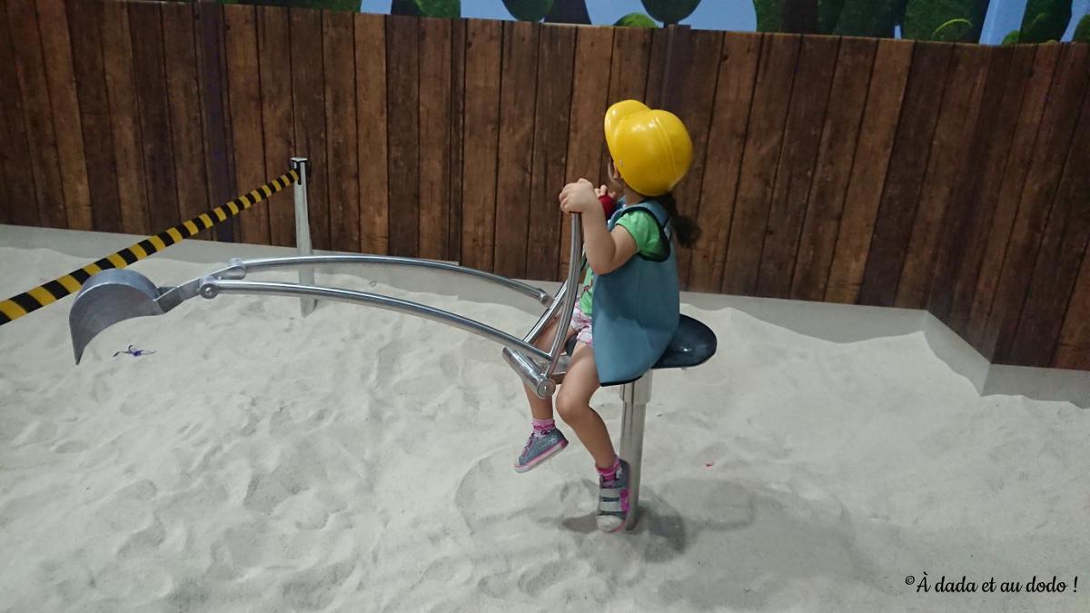 Pelleteuse dans le sable