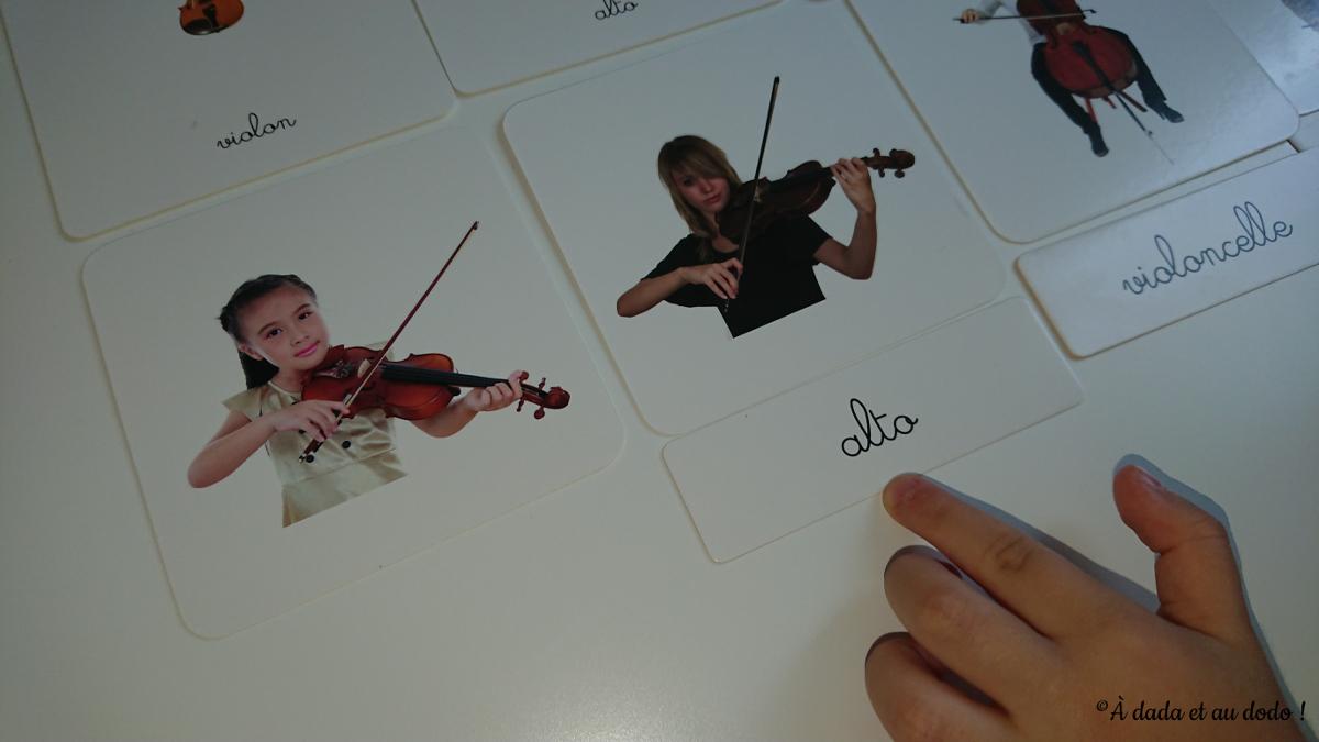 Les cartes de nomenclature des instruments