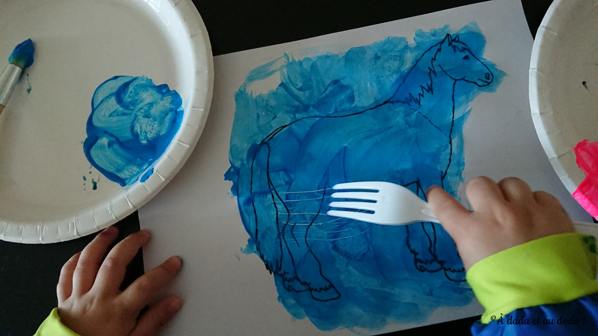 graphisme avec une fourchette