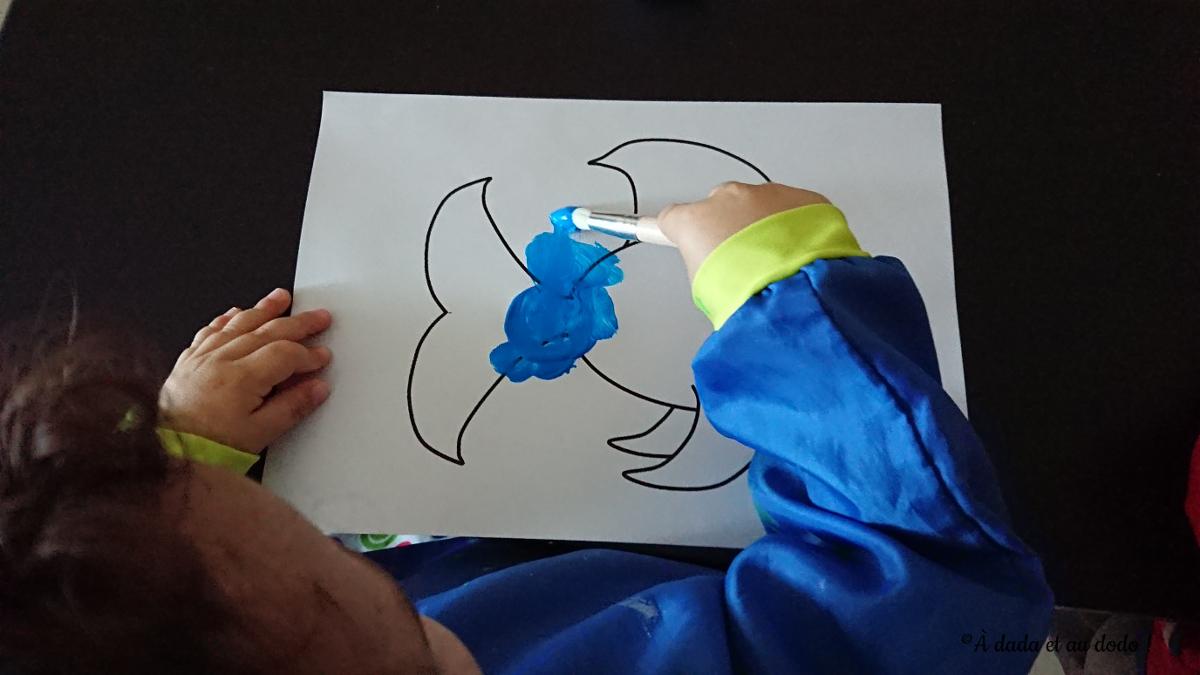 Peindre un poisson bleu