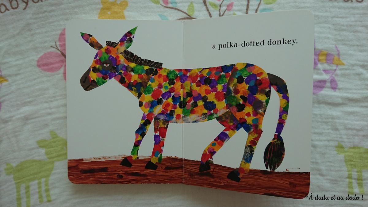 polka dotted donkey
