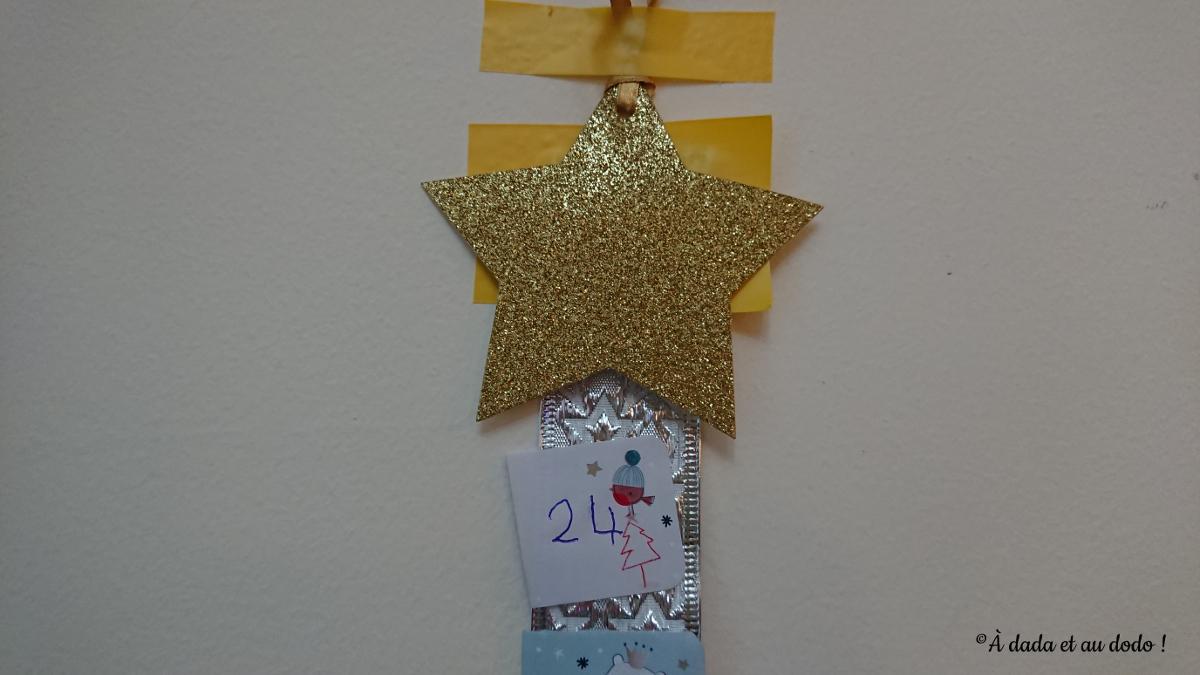 Calendrier de l'Avent fabriqué par Colombe (4 ans)