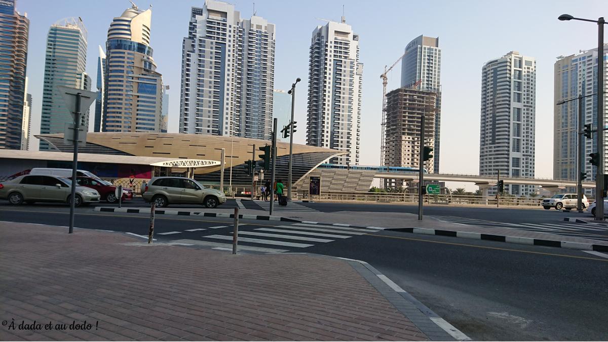 Station de métro à Dubaï