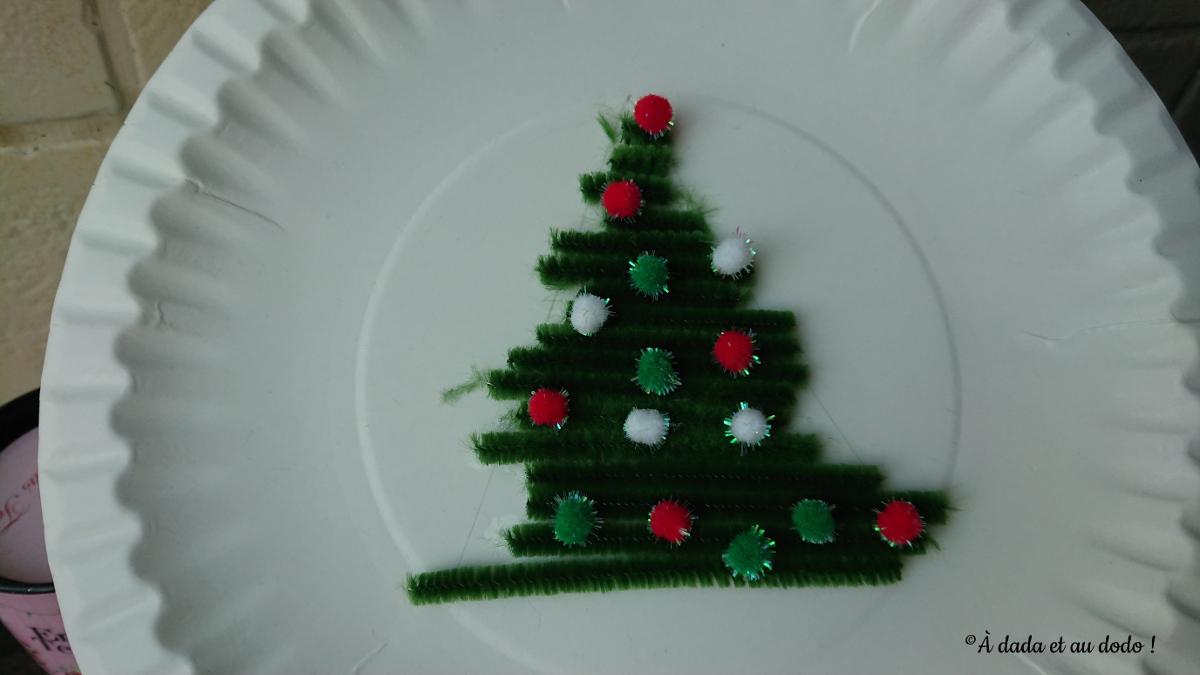 Assiette de Noël faite par les enfants