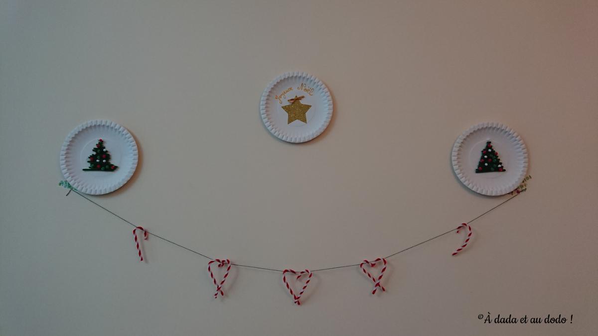 Nos assiettes de Noël qui décorent le mur
