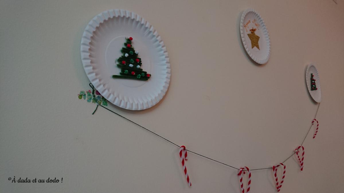 Nos assiettes de noël pour décorer les murs