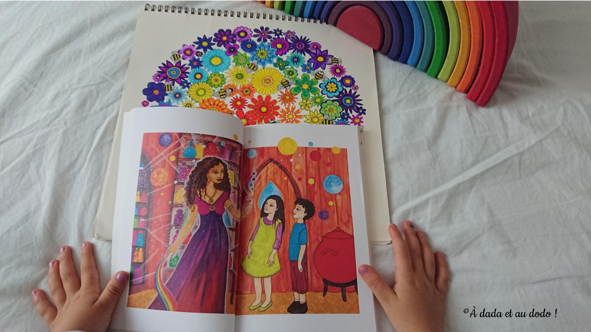 la sorcièe Mirabella partage son savoir avec les enfants