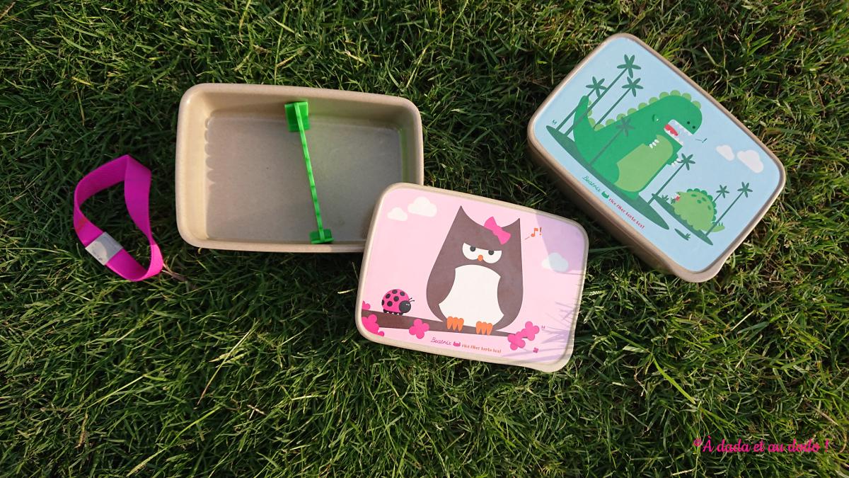 Nos boîtes à goûter Beatrix en fibre de riz