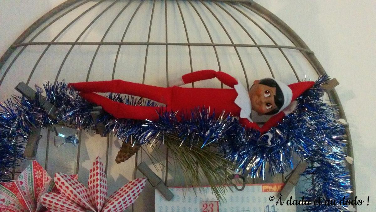 Lutin du Père Noël sur le Pêle-mêle de photos
