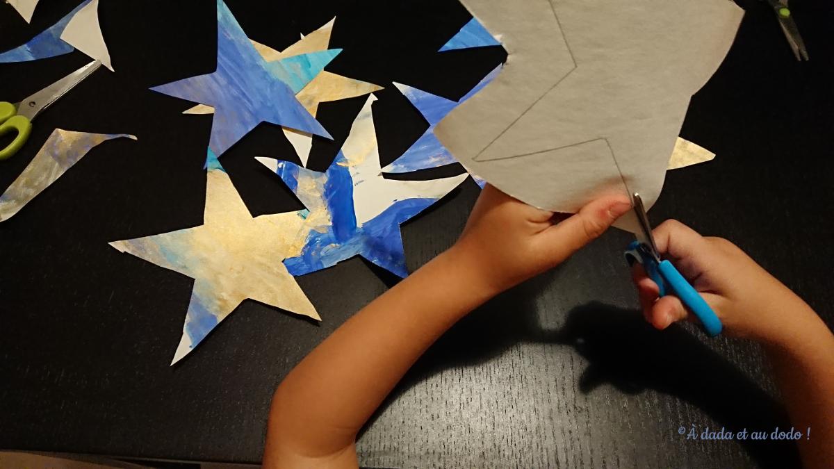 Tracer et découper des étoiles