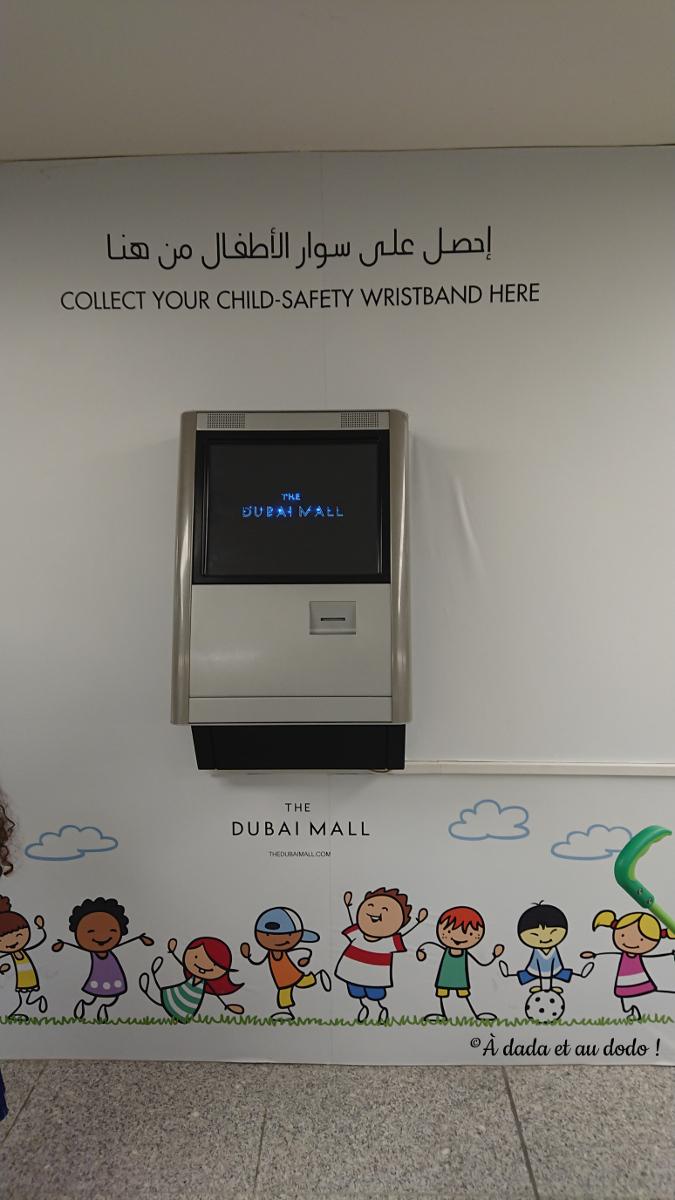 Bracelet d'identification dubai mall