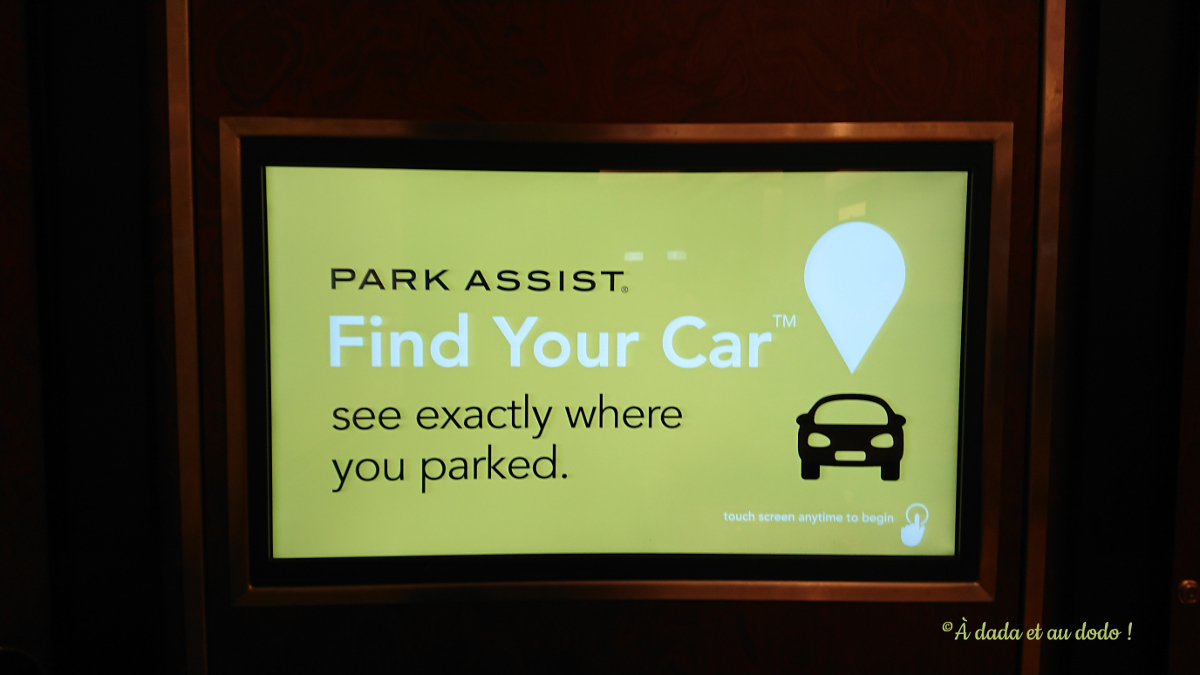 Park assist sytem mall of the emirates