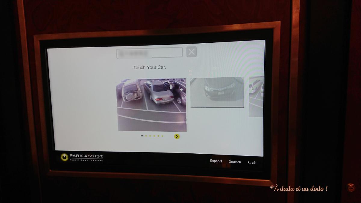 En quelques seconde le système vous montre votre voiture