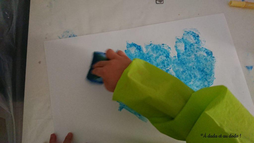 peindre à l'éponge