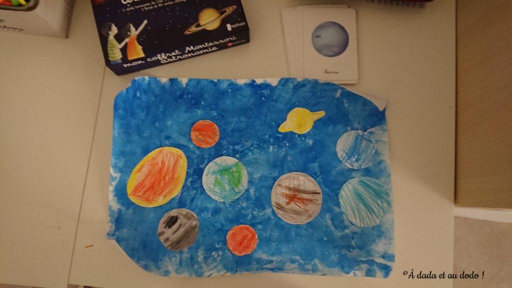 sous-main système solaire