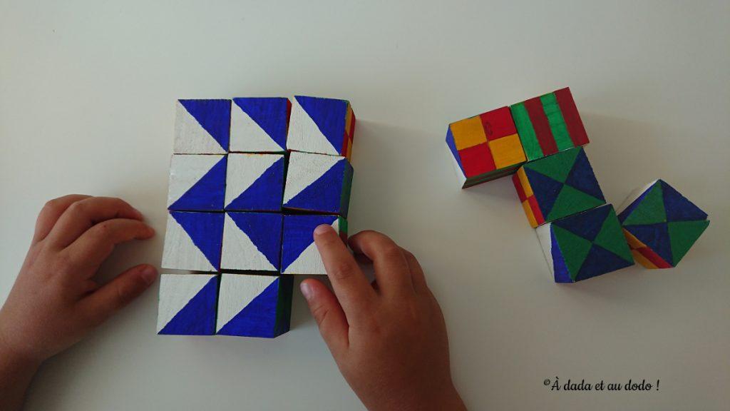 autocorrection avec des cubes de pavage