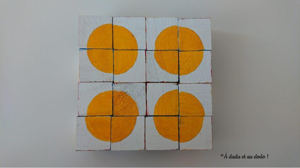 motif avec cubes de pavage