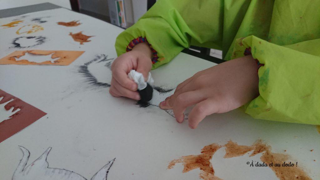 dessiner au charbon