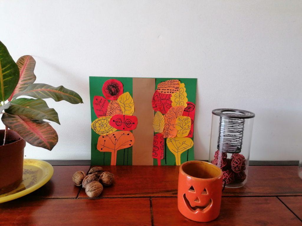 forêt et arbres d'automne