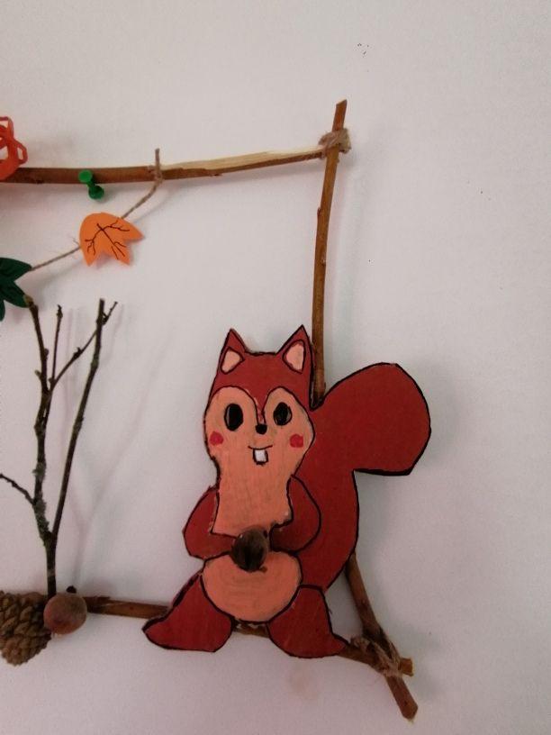 écureuil peint