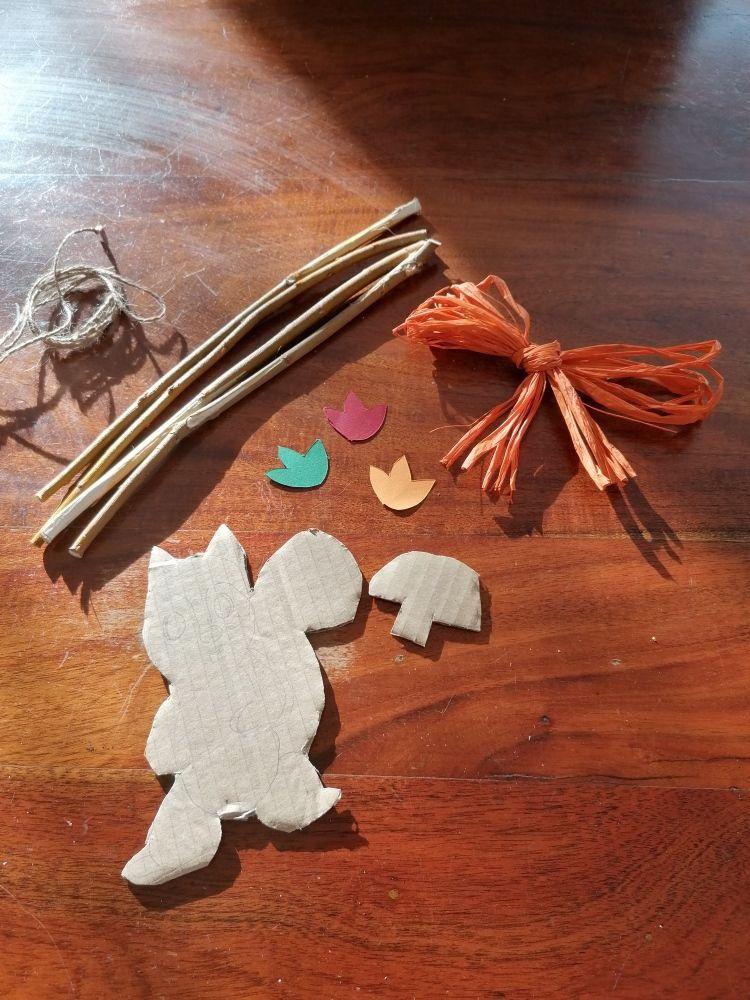 matériel pour fabriquer un cadre des animaux de la forêt