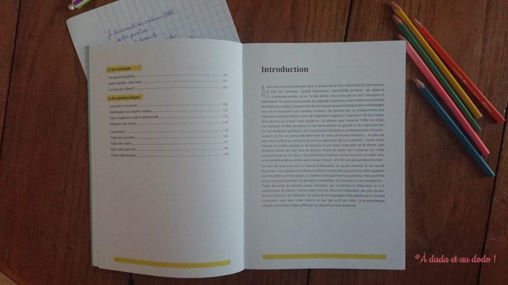 "Sommaire du livre ""Je transmets des valeurs positives"""